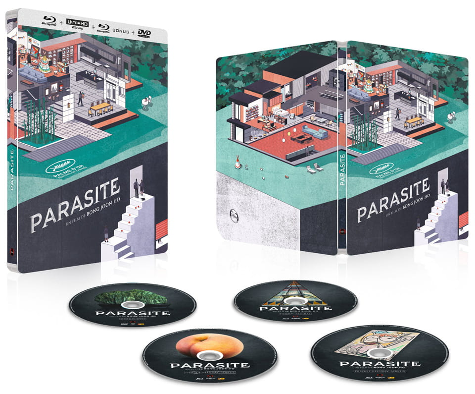 paradise steel book set Bong Joon-ho 4k blu ray